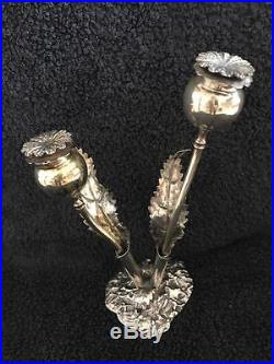 Buccellati Sterling Silver Poppy Salt and Pepper Shakers