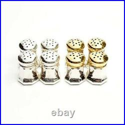 CARTIER SET OF 8 925 STERLING SILVER VINTAGE SALT & PEPPER SHAKERS with BOX