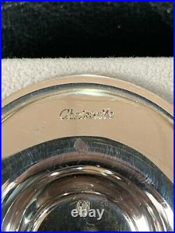 CHRISTOFLE Set Of Sterling Silver And Crystal Salt And Pepper Shaker Tray Boxed