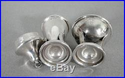 Carl Poul Petersen Sterling Silver Handmade Pepper Shaker & Salt Cellar Modern