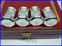 Cartier Salt & Pepper Cruet Set Sterling Silver with fitted case