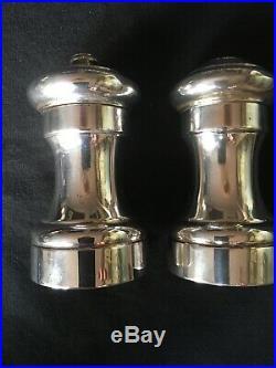Cartier Sterling Silver Salt Shaker And Pepper Grinder Hallmarked Nice Condition
