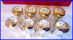 Cartier Sterling Silver Salt and Pepper Shakers, 4 Pairs 8 Pieces