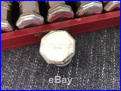 Cartier Sterling Silver Salt and Pepper Shakers Set Of 4 1 3/8 High