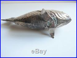 China Chinese Silver Fish Salt & Pepper Shaker Maker Unknown 1900s