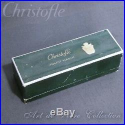 Christofle STERLING Crystal 4 Salt Pepper shakers, Argent Massif Cristal Salière