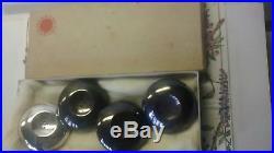 Cohr Denmark sterling silver salt pepper shakers TWO PAIR in box PERMANENTE