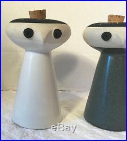 DAVID GIL for Bennington Potters MCM Mr. Salt & Mrs. Pepper Shakers RARE