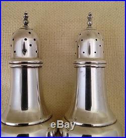 Damask Rose Sterling Silver Salt and Pepper Shaker Set Oneida Heirloom 2 Piece