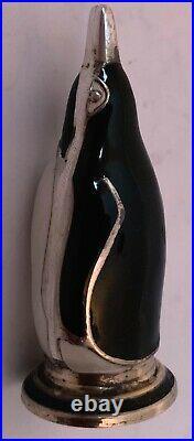Danish Sterling And Enamel Figural Penguin Salt Pepper Shakers S Christian Fogh