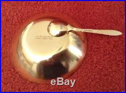 David Andersen Norway Sterling Enamel 3pc Salt, Spoon, OWL Pepper
