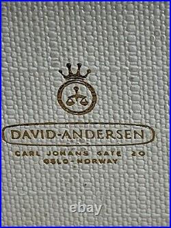 David Andersen Sterling Enamel Cruet Set In Box