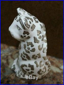 Emilia Castillo Plata Mexico Pair Cheetahs Cats Salt & Pepper Shakers