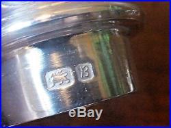 EXCELLENT hallmarked solid SILVER CRUET/SALT/PEPPER/MUSTARD SET 245gms 1976
