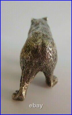 Edwardian Cast Silver Bear Pepperette Hallmarked London 1905 By C And G Asprey
