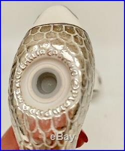Emilia Castillo Fish Salt/Pepper Shakers White Sterling Silver Overlay