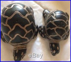 Emilia Castillo Turtle Set Of Salt & Pepper Shakerssterling Silver On Porcelain