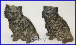 English Sterling Silver Cat Figurine Salt & Pepper Shakers Richard Comyns 230 Gr