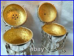 Fabulous'Asprey' Silver Salt & Pepper Pots 1977