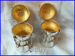 Fabulous'Asprey' Silver Salt & Pepper Pots in the form of Champagne Corks. 1977