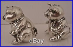 Fantastic Tiffany & Co Figural Pig Sterling Silver Salt And Pepper Shakers