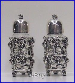 Fine Italian Sterling Silver Salt and Pepper Shaker Set