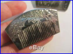 Fine Vintage In Box Japanese 950 Sterling Salt&pepper Hair Comb Shakers-stunning
