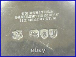 GOLDSMITHS & SILVERSMITHS 1895 hallmarked SOLID SILVER 4 BOTTLE CRUET SET
