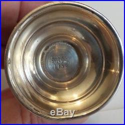 GORHAM STRASBOURG SOLID STERLING SILVER SALT & PEPPER SHAKERS, 77 grams