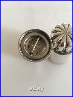 Georg Jensen Bernadotte Sterling Silver Salt and Pepper Shakers #834