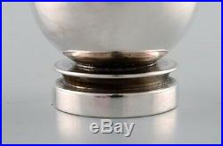 Georg Jensen Pyramid art deco salt & pepper set in sterling silver