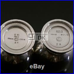 Georg Jensen Silver Salt & Pepper and Mustard Set with Tray Magnolia 2A and 2B
