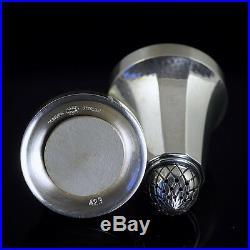 Georg Jensen Silver Salt and Pepper Set #423B Acorn/Konge