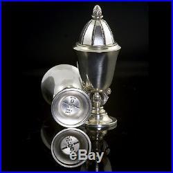 Georg Jensen Silver Salt and Pepper Set #741 Acorn/ Konge