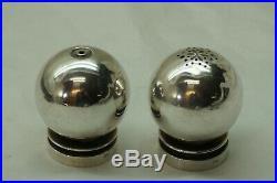 Georg Jensen Sterling Silver Salt Pepper Shakers Hn 632 Dessin 1945-51 Nielsen