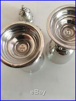 Georg Jensen Sterling Silver salt and Pepper shakers #180 Early