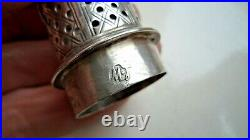 George II 1752 Solid Silver Sugar Caster / Shaker / Pot
