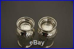 George W. Webb Sterling Silver 10.15 Pair Of Salt & Pepper Shakers C. 1856-1866