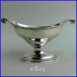 Georgian Antique Silver Salt By William Plummer London 1782 93 Grams