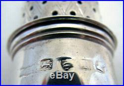 Georgian George III Antique Sterling Silver Pepper Pot Caster William Bateman