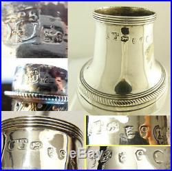 Georgian Sugar Caster Sterling Silver Peter and Ann Bateman 1791 Antique (5523)