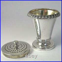Georgian hallmarked Sterling Silver Pounce / Pepper Pot 1828 by Charles Fox II