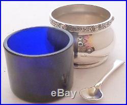 Goldsmiths & Silversmiths Silver Cruet Salt Pepper Mustard Shaker Pot Bham 1951