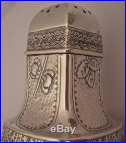 Gorham Cluny Aesthetic Hand Chased Repousse Sterling Salt Pepper Shakers 1884