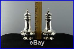 Gorham Sterling Silver Salt & Pepper Shakers Repousse A1017 Not Weighted