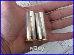 Hallmarked Solid Silver Novelty 12 Bore Gun Cartridge Salt & Pepper Shakers