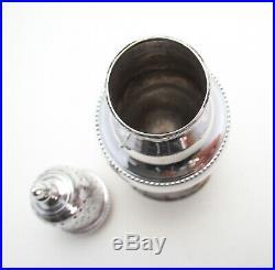 Hester Bateman Georgian George III Antique Sterling Silver Pepper Pot Caster