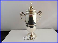 Impressive Victorian Novelty Trophy Shaped English Sterling Silver Sugar Castor