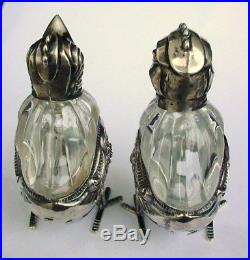 Incredible 800/1000 Silver Chick Figural Salt & Peppers