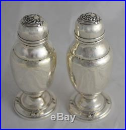 International Silver Spring Glory Sterling Salt & Pepper Shakers